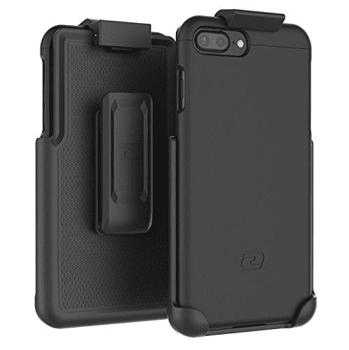 "iPhone 7 Plus 5.5"" Belt Clip Case, Encased (SlimShield Series) Hybrid Cover w/ Secure-fit Holster (2pc set)"
