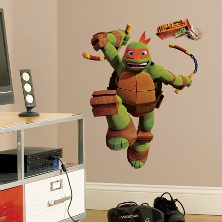 Teenage Mutant Ninja Turtles Mike Peel And Stick Giant Wall Decals