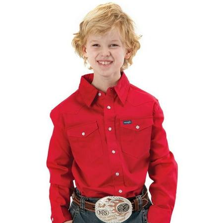 Wrangler Apparel Boys  Red Work Shirt](Boys Apparel)