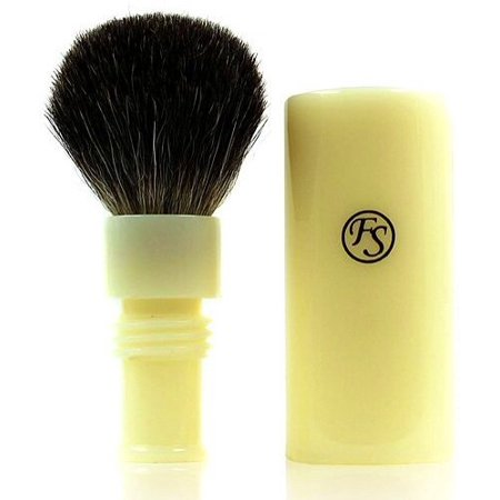 Shaving Brush -- Pure Badger Travel Brush with Ivory Case 20 Mm Knot