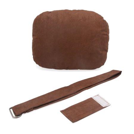 Brown Memory Foam Padding Car Headrest Pillow Neck Rest Support Cushion Pad