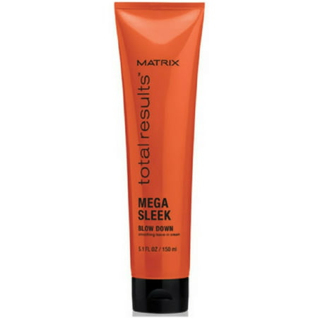 Matrix Sleek Look Smoothing System - Matrix Total Results Mega Sleek Blow Down Smoothing Leave-In Cream, 5.1 oz