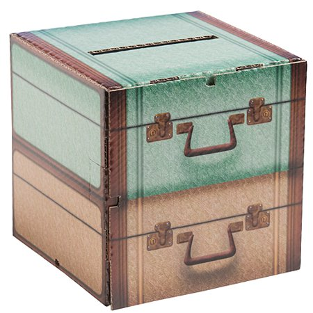 11 in. Vintage Suitcase Card Box](Decorative Suitcase)