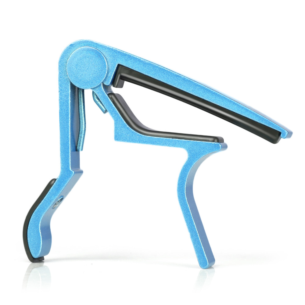 Donner Single-handed Electric Acoustic Folk Guitar Capo Blue
