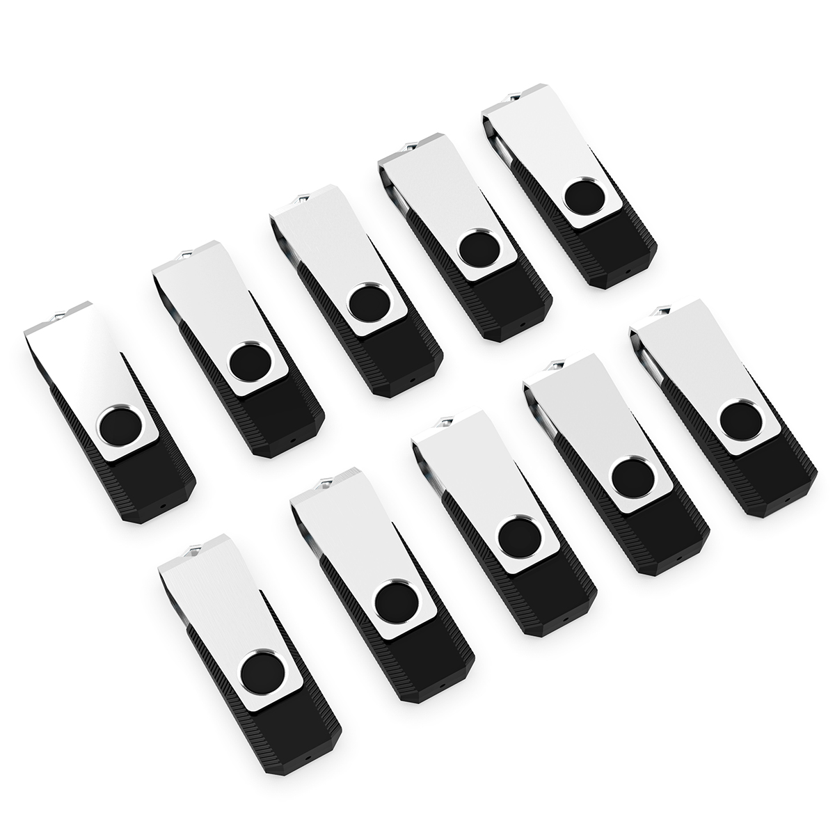 KOOTION 10Pack 8GB USB 2.0 Flash Drive Thumb Drives Memory Stick, Black