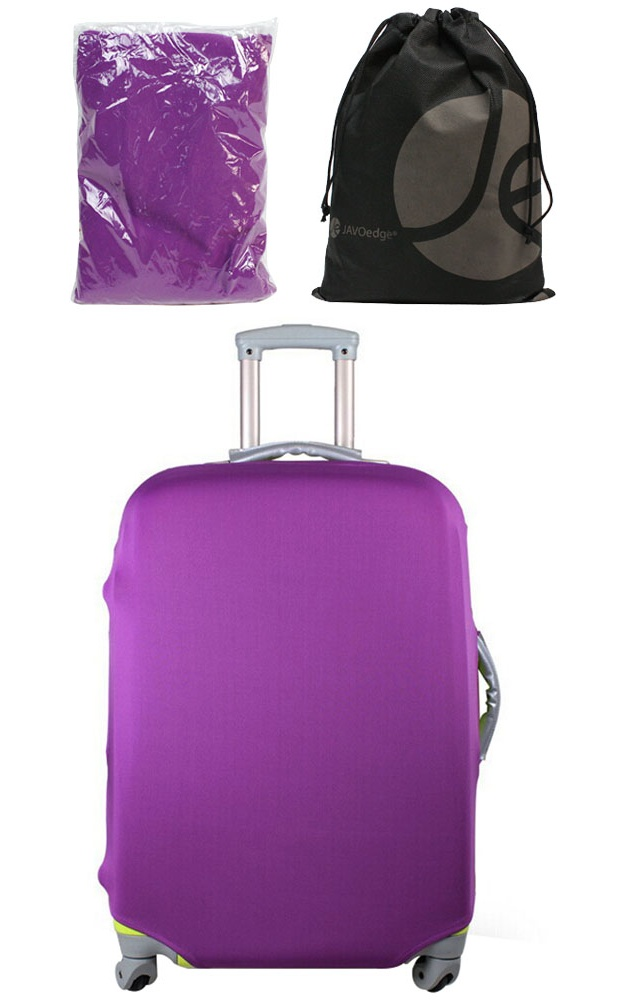 JAVOedge Stretch Fabric Luggage Cover. Fits Most Suitcases, With With Bonus  Reusable Storage Bag   Walmart.com
