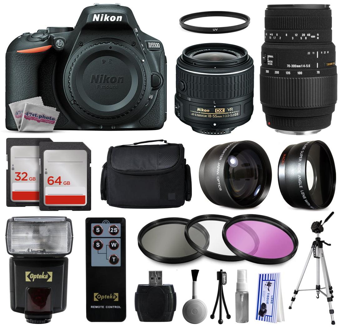 Nikon D5500 Touch Screen Digital SLR w/ 18-55mm VR II Kit...