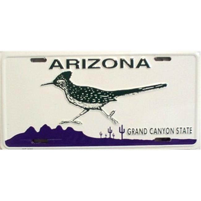 LP - 1080 AZ Arizona Roadrunner License Plate - 8327