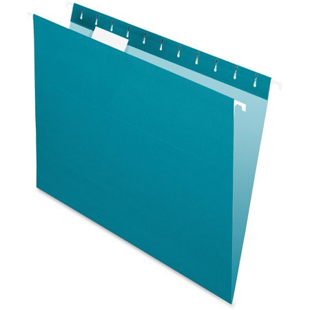 Pendaflex Colored Hanging Folders, Teal, 25 / Box (Quantity)