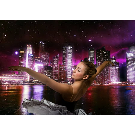Laminated Poster Photo Dance City Girl Ballet Beautiful Ballerina Poster Print 24 X 36