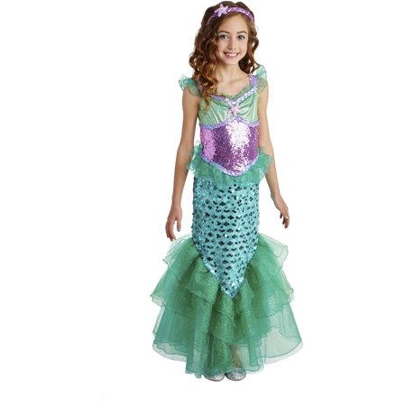 Girls Blue Seas Mermaid Costume - Mermaid Costume For Women
