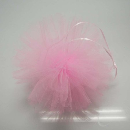 Tulle Pom Poms Ball Centerpiece, 4-Piece, 10-inch, Light - Military Ball Centerpieces