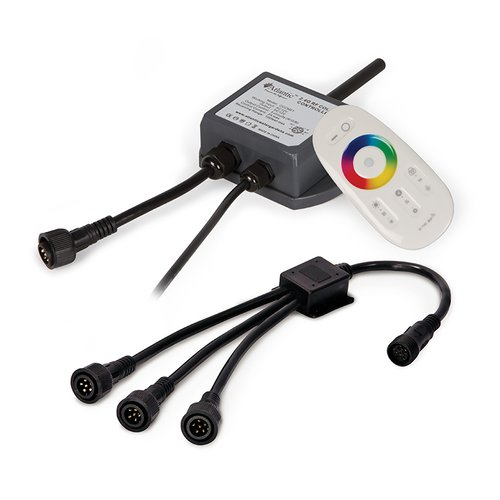 Atlantic Water Gardens Controller, Remote and 3 Way Splitter for Color Changing SOL Lighting