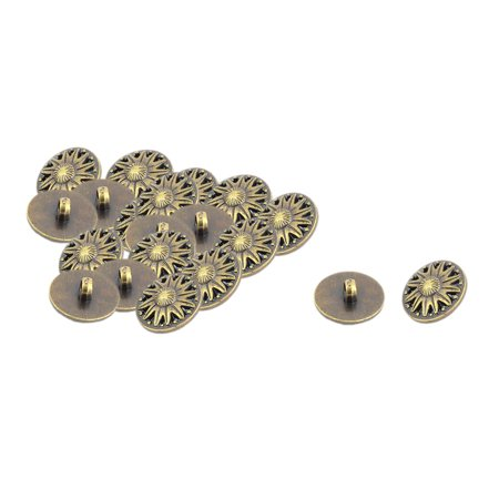 Plastic Round DIY Sewing Clothes Coat Buttons Bronze Tone 21mm Dia 20pcs (Round Plastic Buttons)