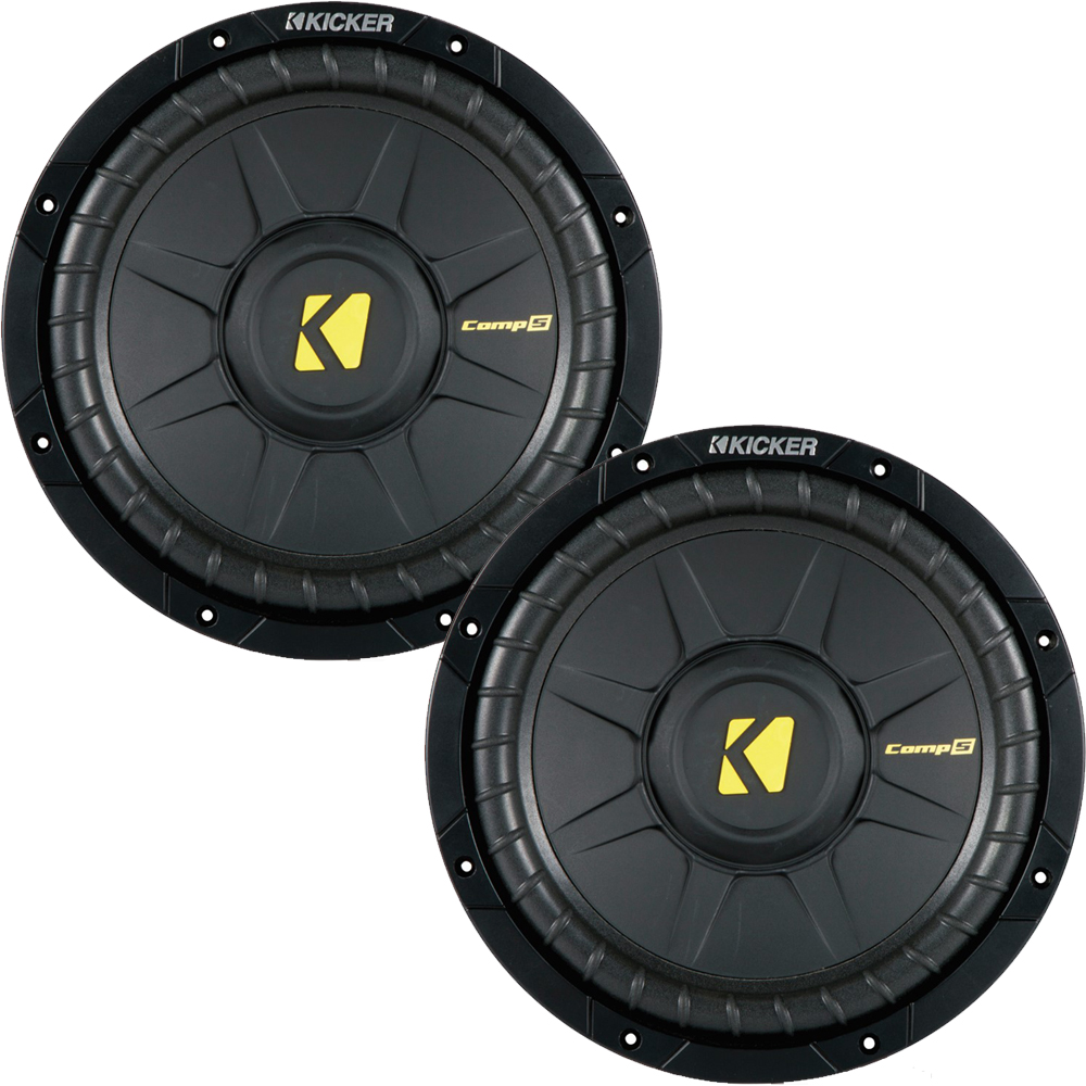 Kicker CompS 10 Inch 4 Ohm Subwoofer 40CWS104 Bundle