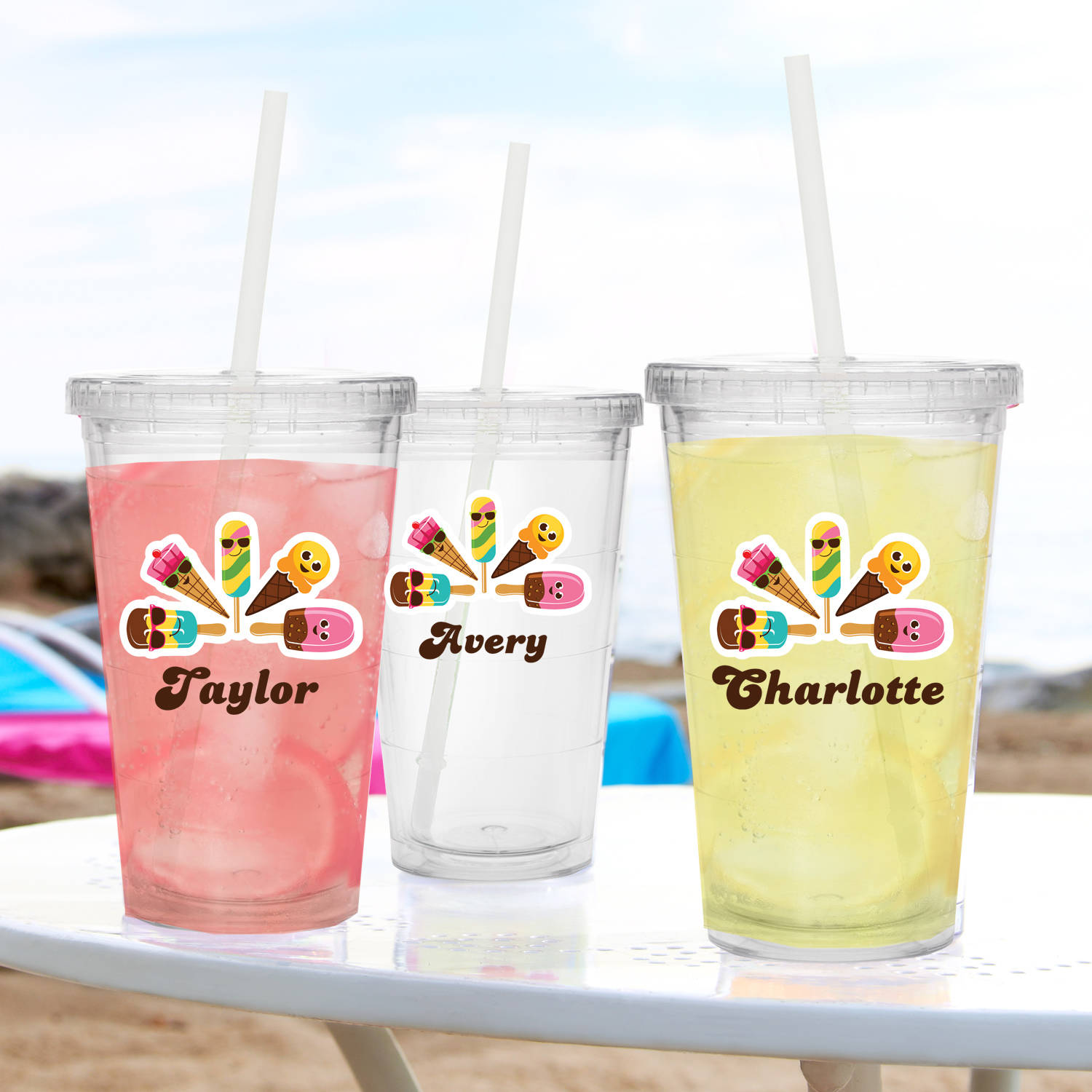 Personalized Cool Summer Treats Tumbler