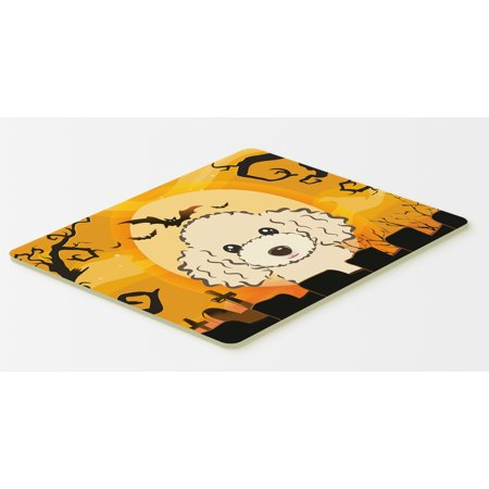 Halloween Buff Poodle Kitchen or Bath Mat 20x30 BB1816CMT