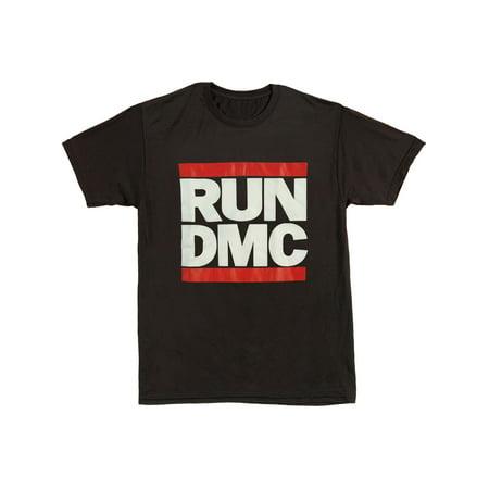Run DMC Men's  Logo Active Tee Active Wear Black (Run Dmc Outfit)