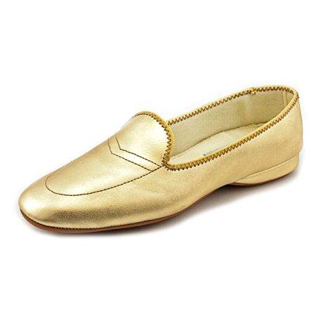 Daniel Green Meg Women N/S Round Toe Leather Gold Loafer