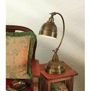 AF Lighting Plato Adjustable Desk Lamp, Satin Brass