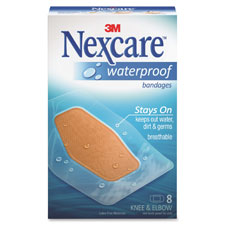 Nexcare Waterproof Clear Bandage, Elbow And Knee - 8 Ea