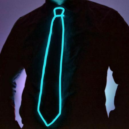 GlowCity High Quality Premium Super Bright LED Light Up El Wire Tie - Aqua - El Wire Lighting