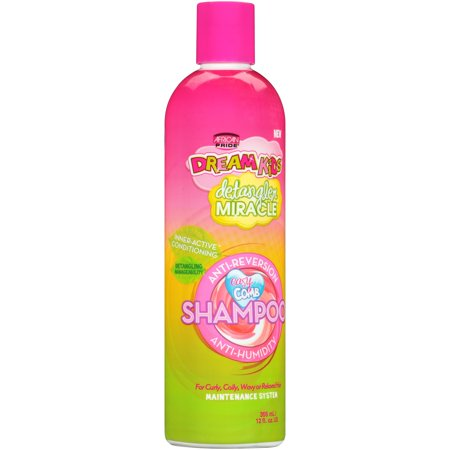(2 Pack) African Pride Dream Kids Detangler Miracle Anti-Reversion Anti-Humidity Shampoo 12 fl. oz. Bottle