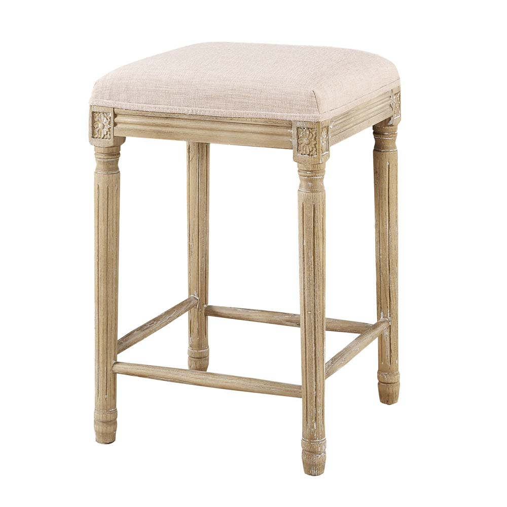 Linon Sulla Counter Stool Brown 25 Inch Seat Height Assembled