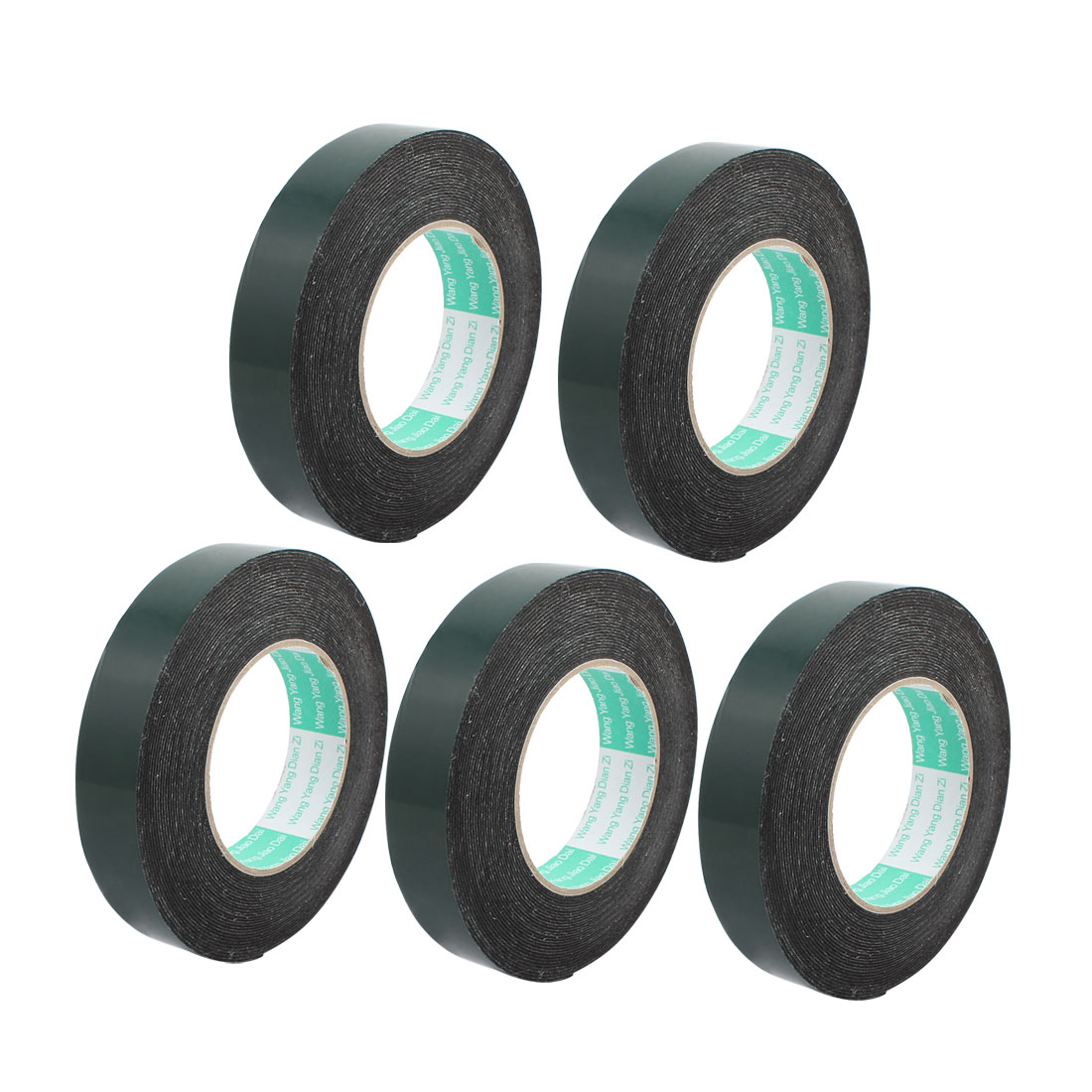 5Pcs 25mmx1mm Double Sided Sponge Tape Adhesive Sticker Foam Glue Strip 10m