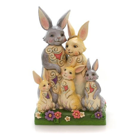 Jim Shore HARES TO FAMILY Polyresin Easter Bunny Family