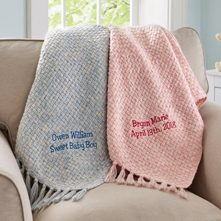 Personalized Honeycomb Baby Blanket- Available in Pink or Blue](Personalized Baby Stuff)