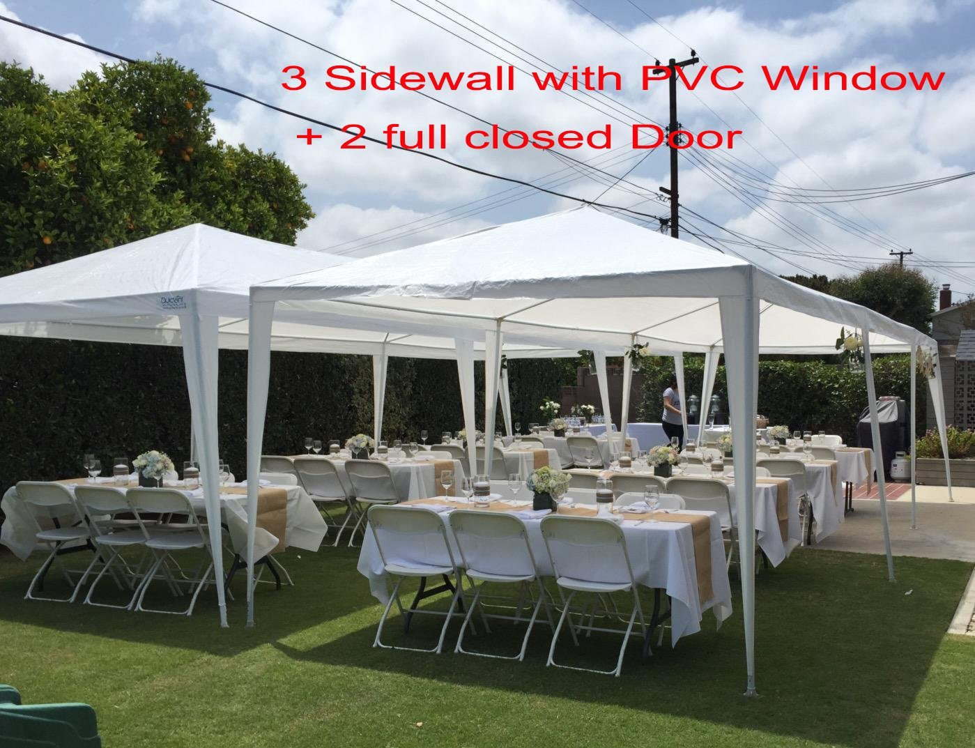 Quictent 10x30 Heavy duty Outdoor Canopy Party Wedding Tent Gazebo Pavilion with 5 Walls  sc 1 st  Walmart.com & Quictent 10x30 Heavy duty Outdoor Canopy Party Wedding Tent Gazebo ...