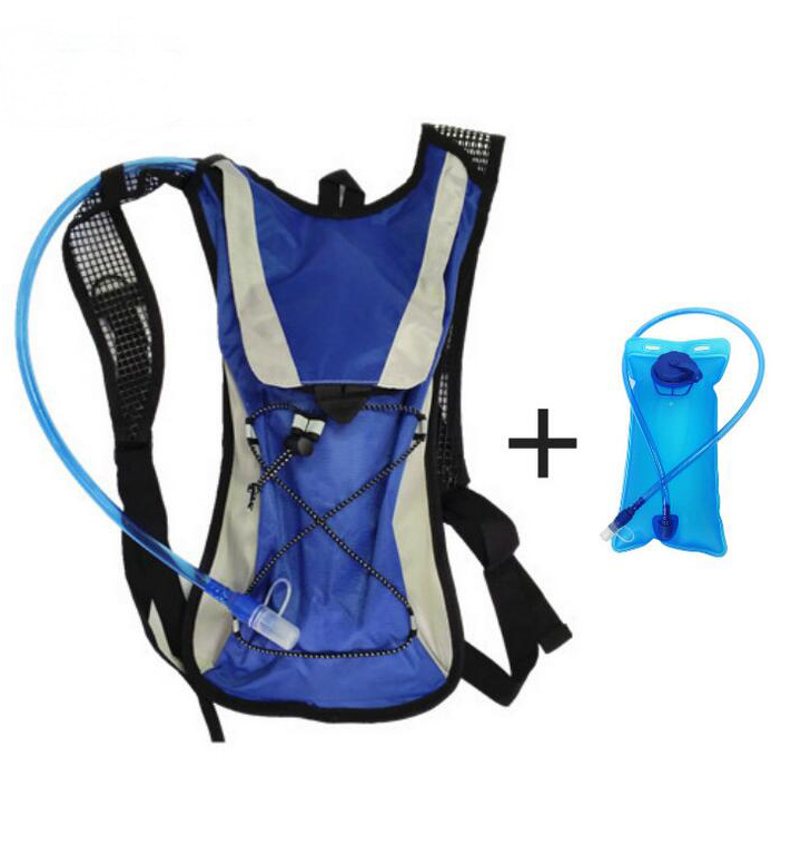 Lightahead 2L Hydration Backpack with Water Rucksack Bladder Bag for Running Hiking Cycling Camping (BLUE)