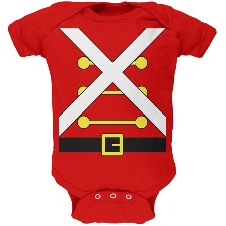 Christmas Toy Soldier Costume Red Soft Baby One Piece (Baby Soldier Costume)