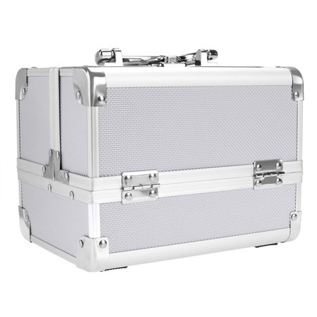 Fashion Makeup Travel Case Jewelry Box Lockable Cosmetic Organizer Holder