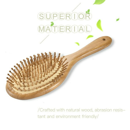 Wooden Hair Brush Detangling Scalp Massage Brush Air Cushion Hair Combs Anti-static for Relaxing and