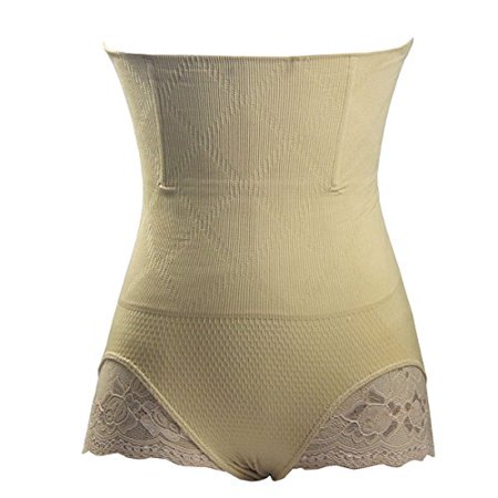 Sans couture extensible Women Fit Butt Lifter amincissante (M - L Beige)