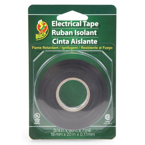 "Duck Brand Electrical Tape, 3/4"" X 66', Black"