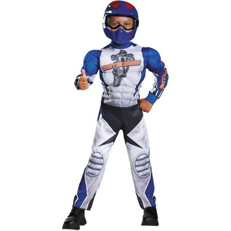 Boys Muscle Costume (Motorcycle Rider Muscle Boys Child Halloween)