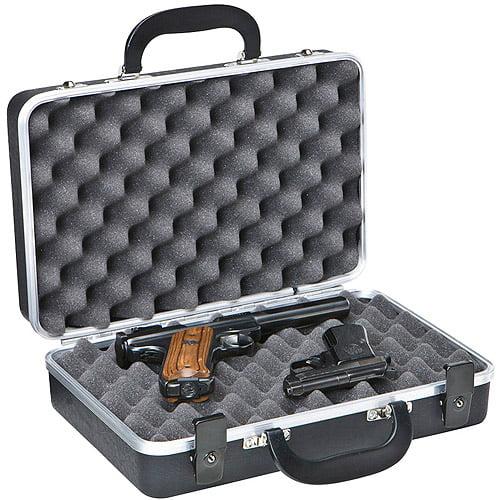 PLANO GUN GUARD DLX TWO PISTOL CASE ALLIGATOR TEXTURED POLYMER BLACK