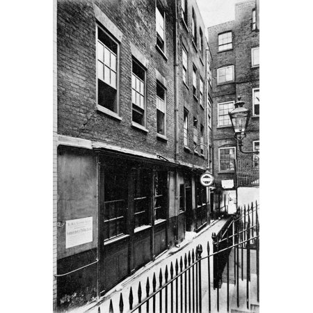 London Pub C1905 Nexterior View Of Ye Olde Cheshire Cheese An Old Pub Near Fleet Street In London England Photographed C1905 Rolled Canvas Art -  (24 x (Ye Olde Cheshire Cheese Pub London Menu)