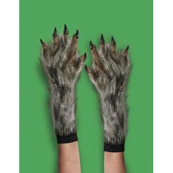 Halloween Werewolf Gloves (X-LONG WEREWOLF GLOVES-BROWN)