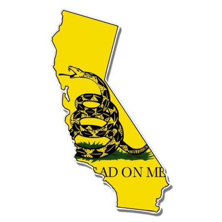 California Gadsden Flag Snake Don't Tread on Me - Vinyl Sticker Waterproof Decal Sticker