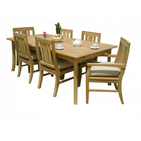 (7 PC A Grade Outdoor Patio Teak Dining Set - 117
