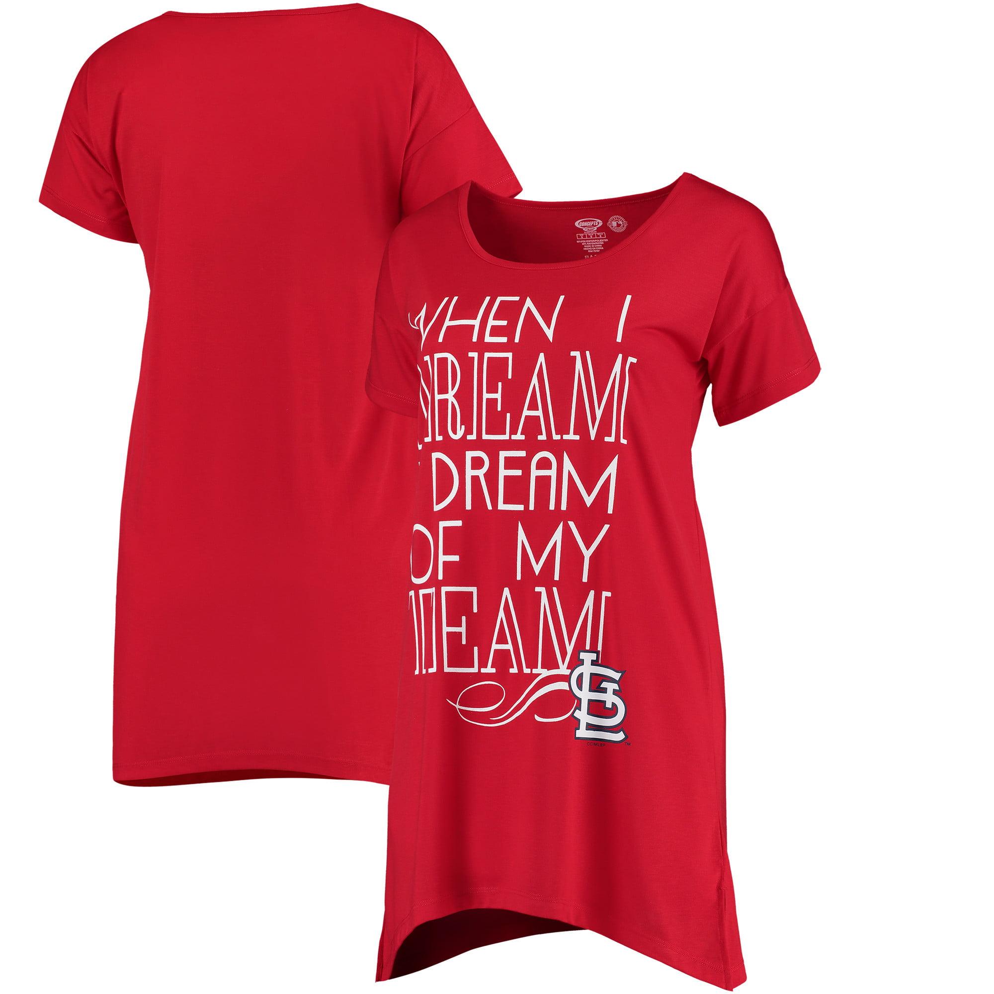 St. Louis Cardinals Concepts Sport Women's Transcend Nightshirt - Red