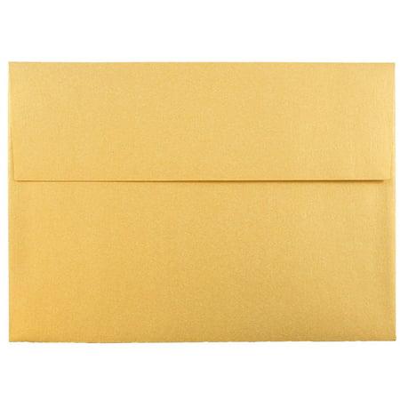 jam paper a7 invitation envelope 5 1 4 x 7 1 4 gold stardream
