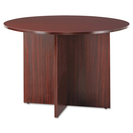 Alera Valencia Round Conference Table w/Legs, 29 1/2h x 42 dia., Mahogany -ALEVA7142MY Tiffany Industries Round Conference Table