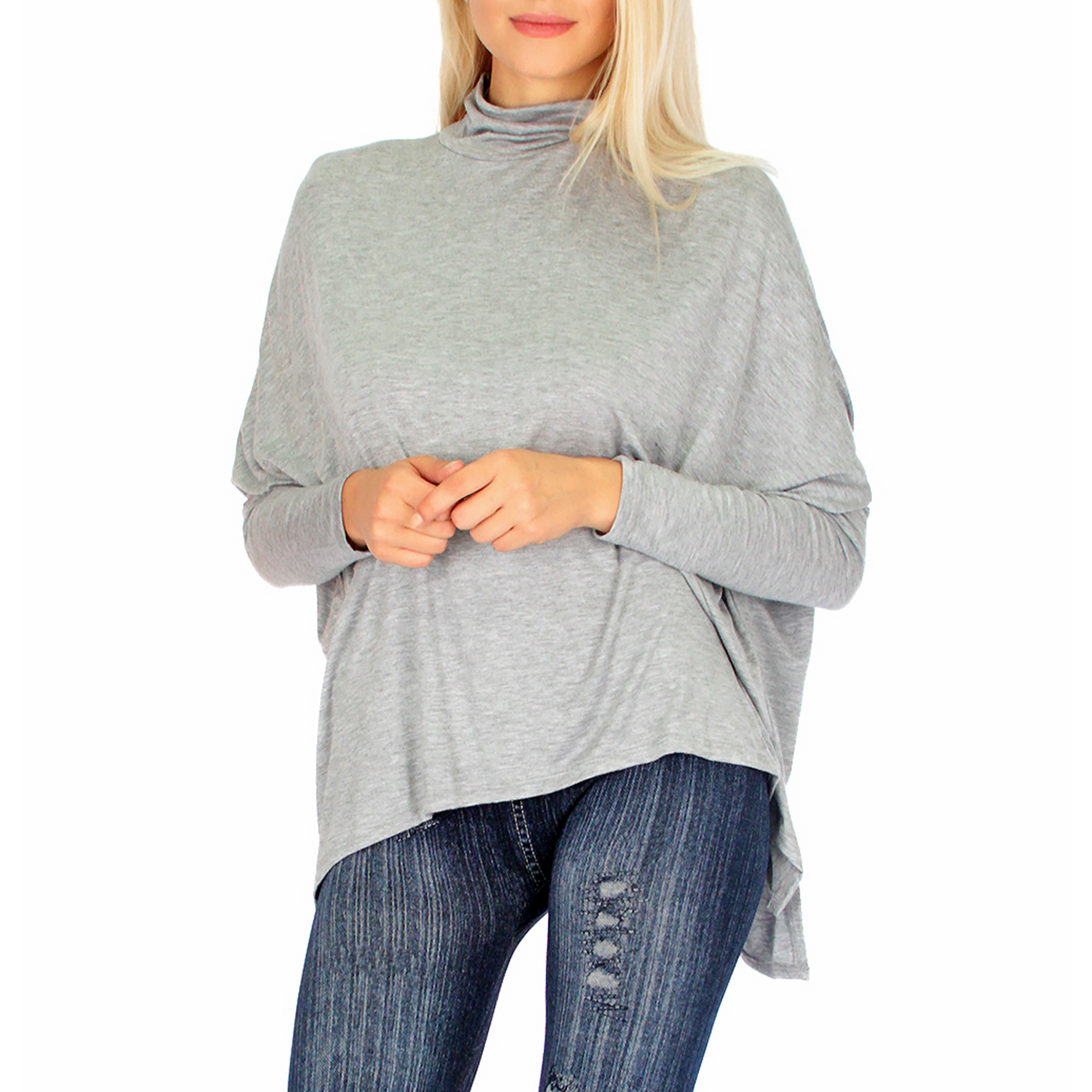 Lyss Loo Fly On By Turtleneck Long Sleeve Topp
