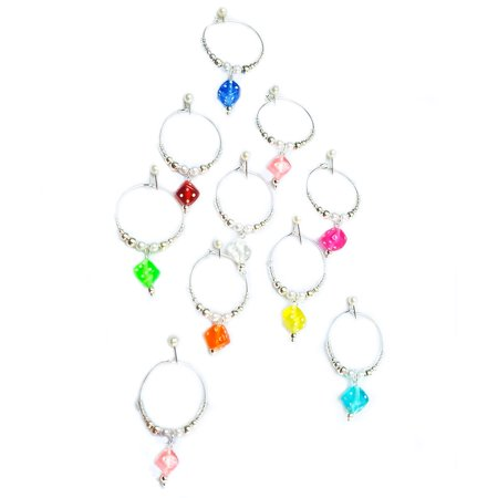 Wine Glass Charms Markers Hand Made Gambling inspiration SET of 10