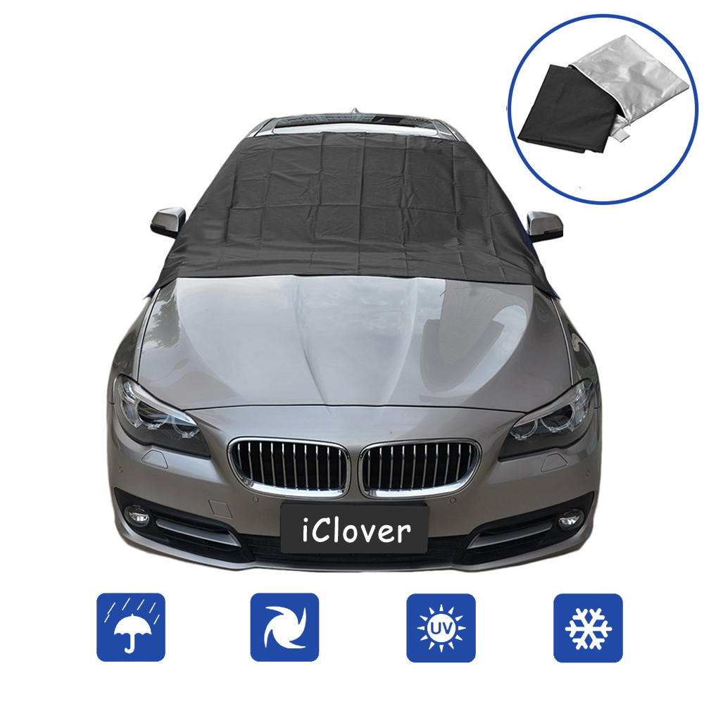 Basics Foldable Front Windshield Snow and Ice Cover 74 x 57